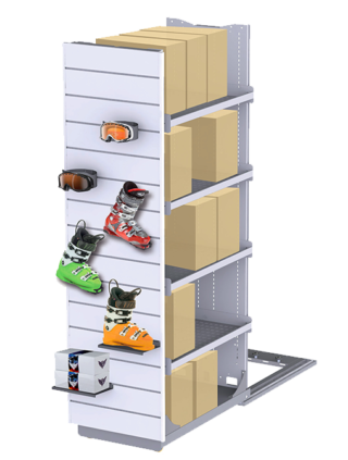 Store display with integrated storage 1