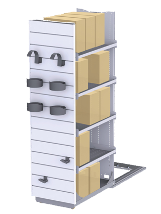 Store display with integrated storage 2