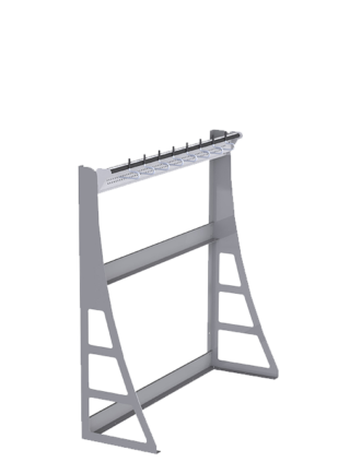 Wall mounted ski support 1