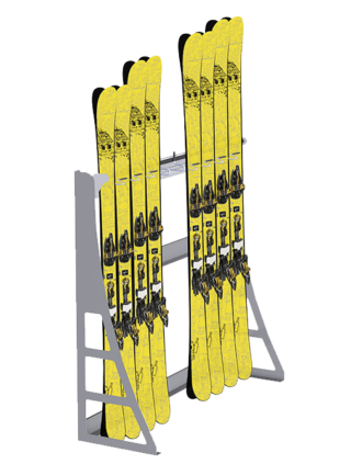Wall mounted ski support 2